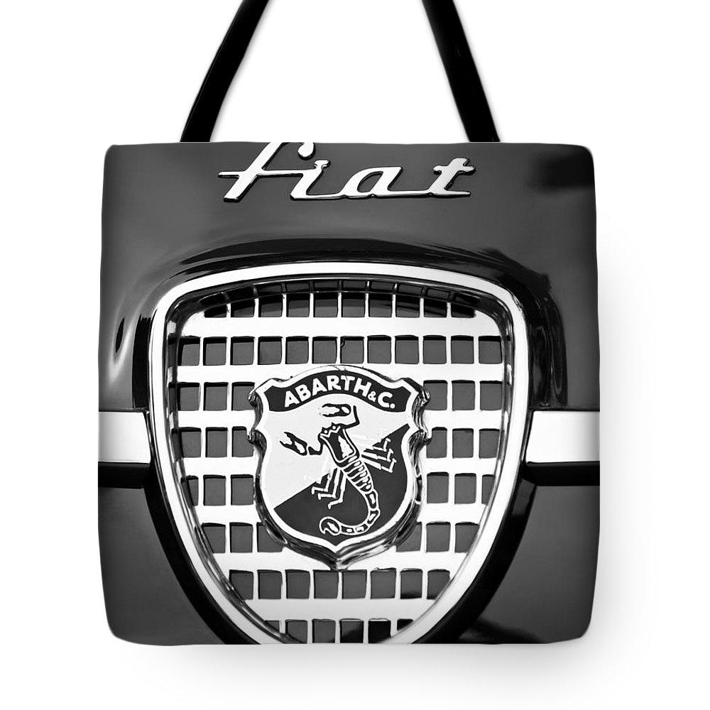Fiat Emblem Tote Bag featuring the photograph Fiat Emblem by Jill Reger