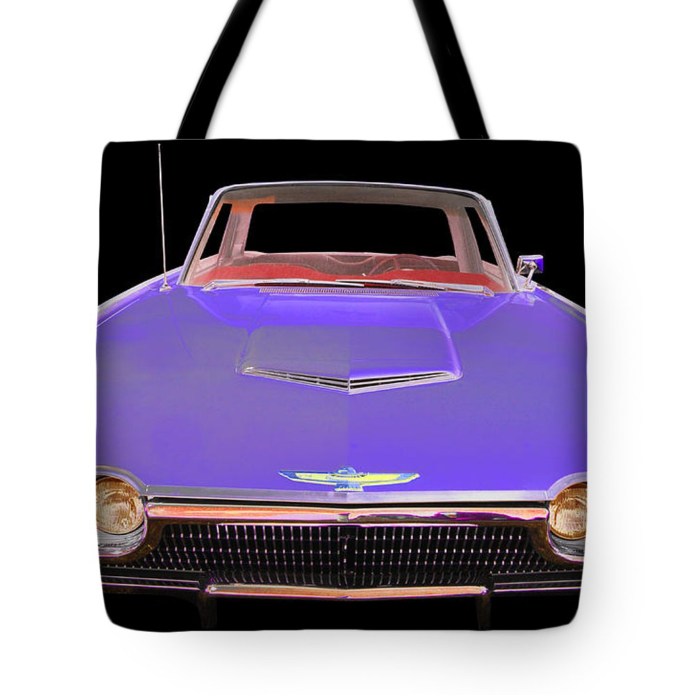 1963 Ford T-bird Tote Bag featuring the photograph Ford by Allan Price