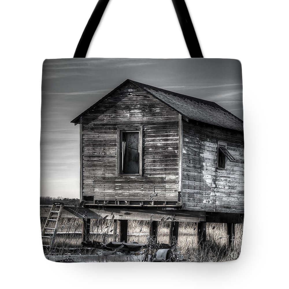 Abandoned Tote Bag featuring the photograph Forgotten by Traci Law