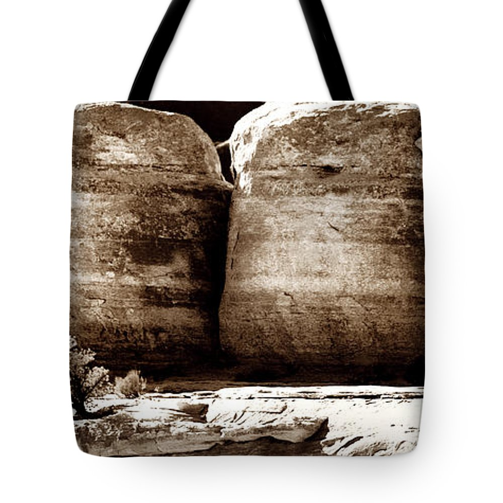 Geology Tote Bag featuring the photograph Four Boulders by Marilyn Hunt
