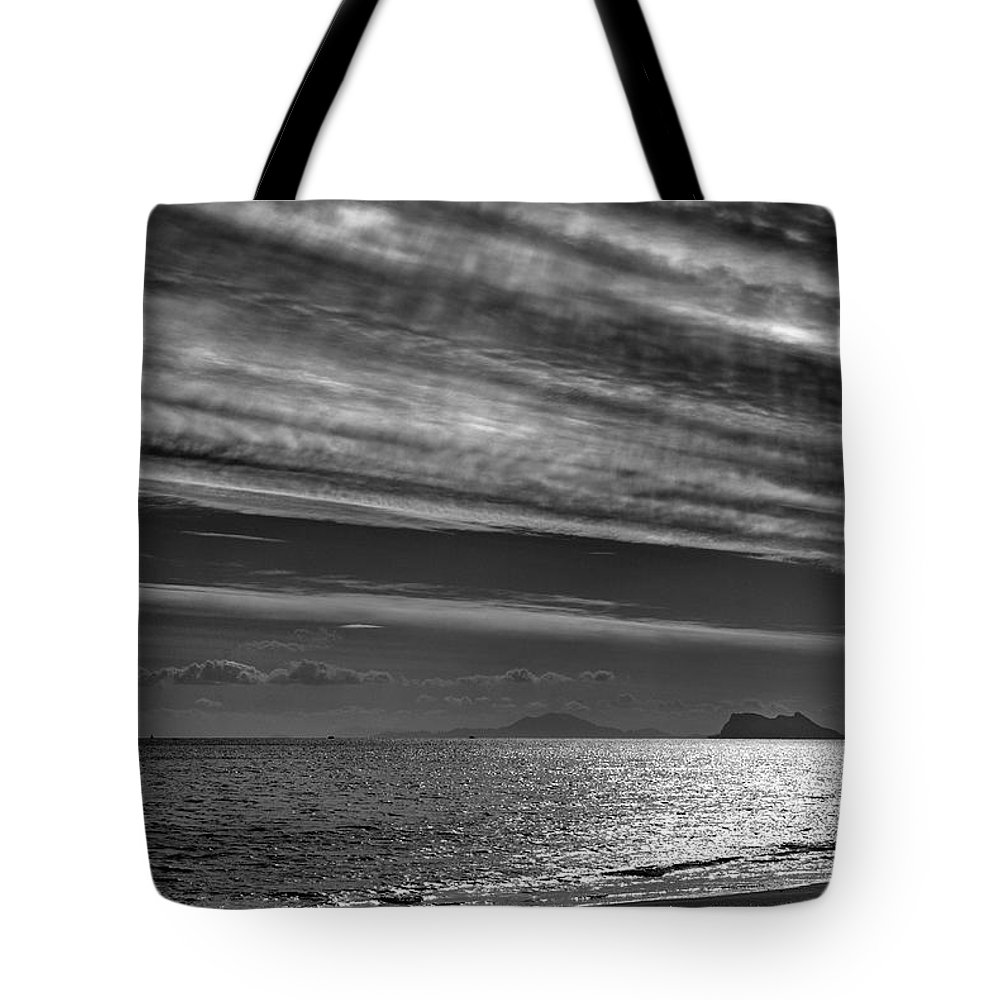 Black And White Tote Bag featuring the photograph Gibraltar by Guido Montanes Castillo