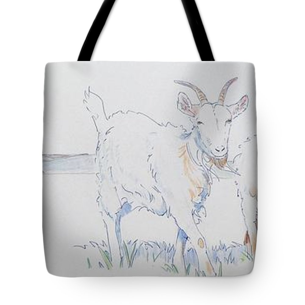 Goat Drawing Tote Bag For Sale By Mike Jory