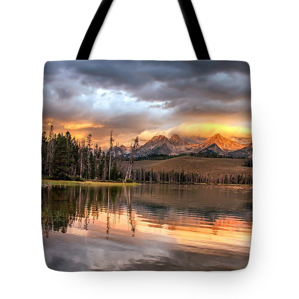 Rocky Mountains Tote Bag featuring the photograph Golden Sunrise by Robert Bales
