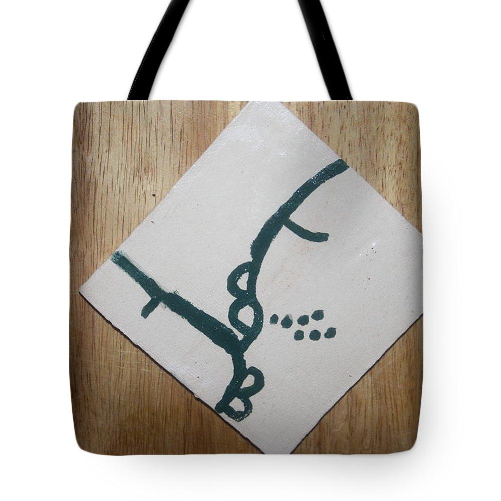 Jesus Tote Bag featuring the ceramic art Grace - Tile by Gloria Ssali
