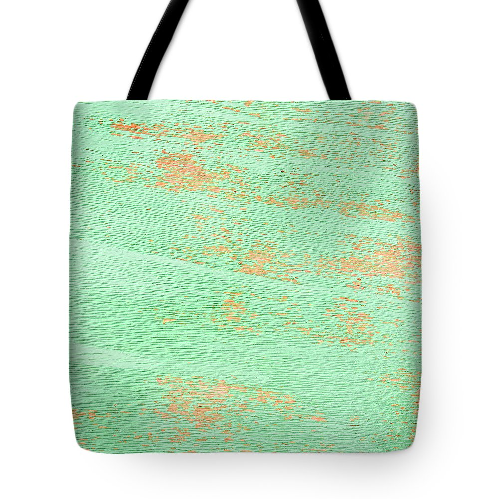 Aged Tote Bag featuring the photograph Green Wood by Tom Gowanlock