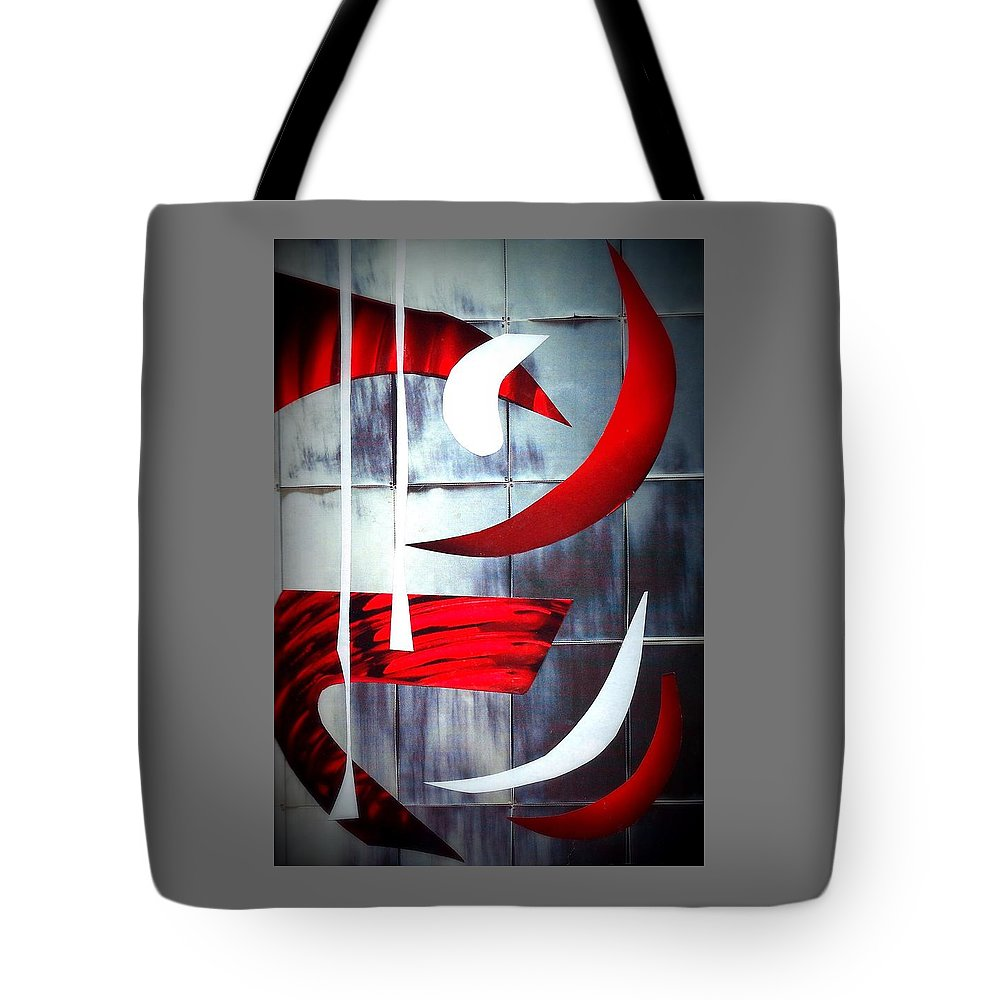 Abstract Tote Bag featuring the mixed media Herald by Barbara Bennett
