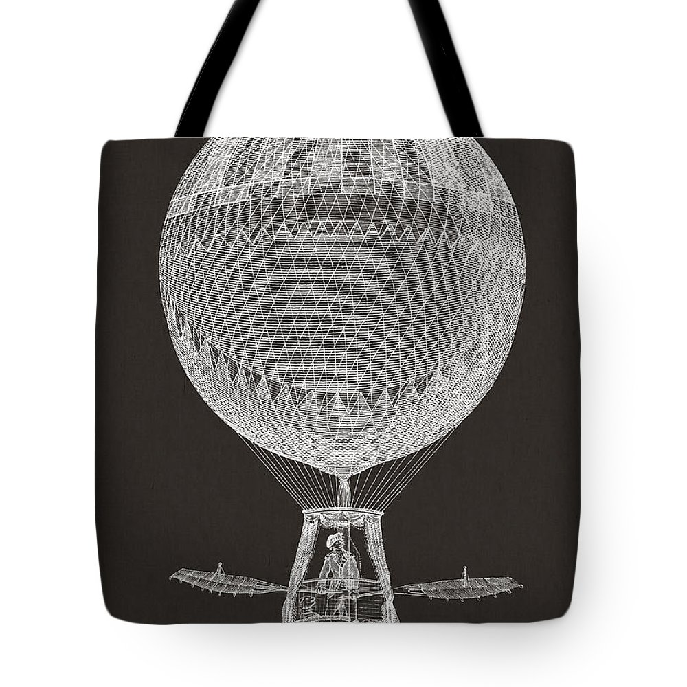 Hot Air Balloon Tote Bag featuring the digital art Hot Air Balloon by Aged Pixel
