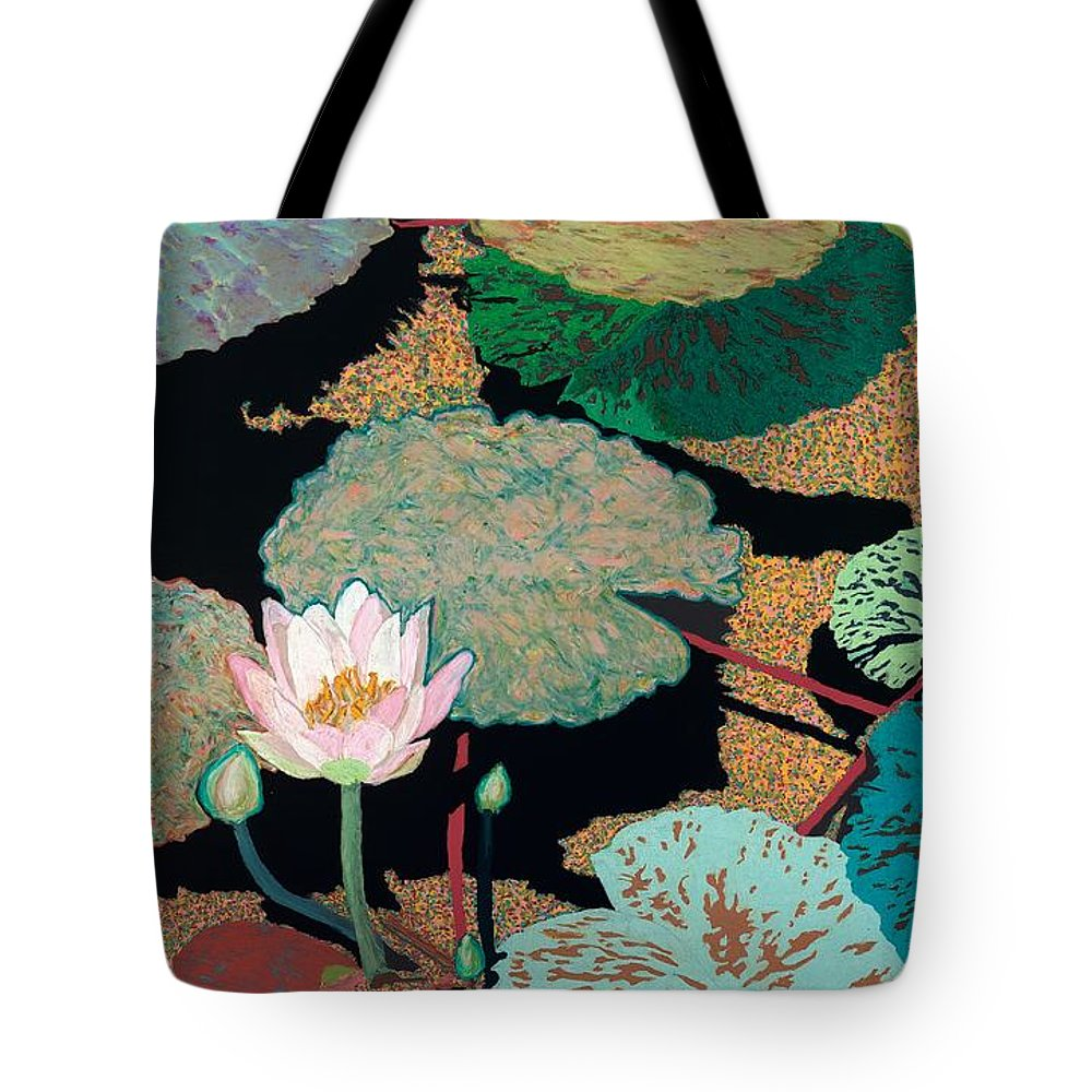 Landscape Tote Bag featuring the painting Hot And Humid by Allan P Friedlander