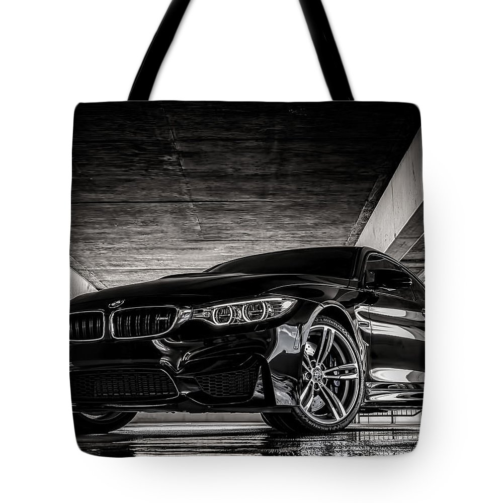 Black Tote Bag featuring the digital art I Take Mine Black by Douglas Pittman