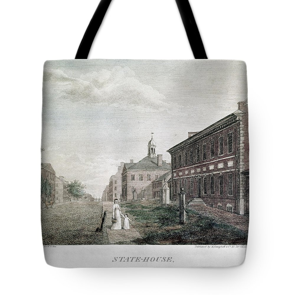 1798 Tote Bag featuring the photograph Independence Hall, 1798 by Granger