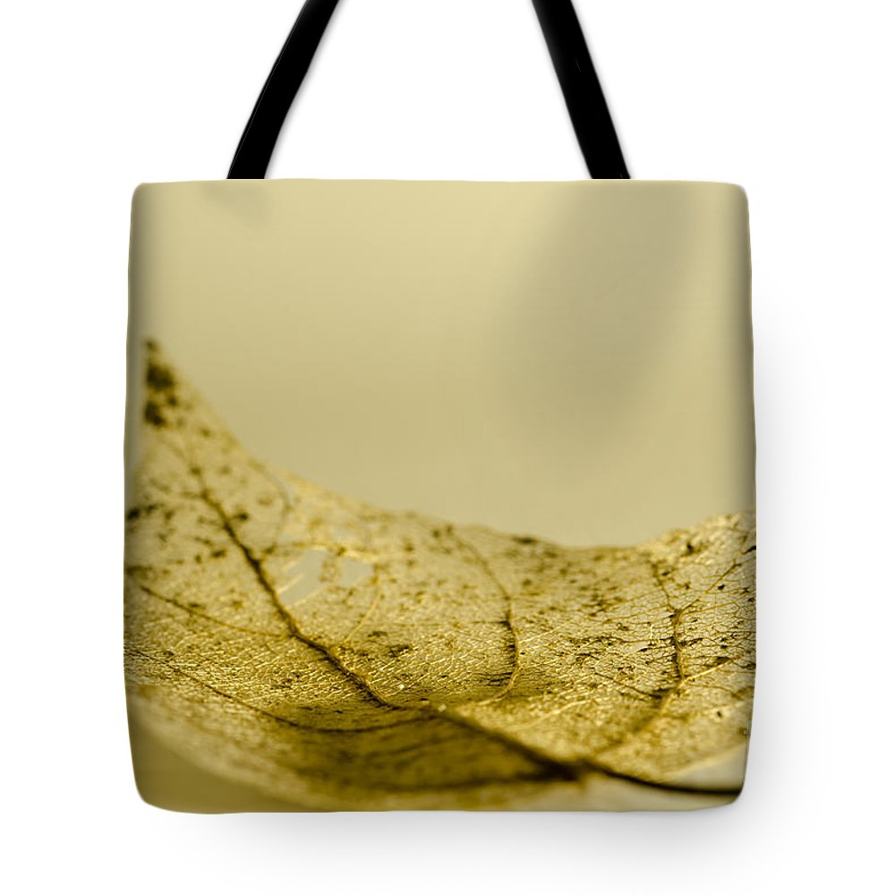 Leaf Tote Bag featuring the photograph Leaf by Mats Silvan