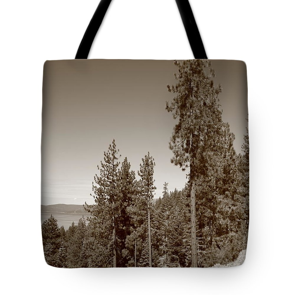 Alpine Tote Bag featuring the photograph Mountainside Near Lake Tahoe by Frank Romeo