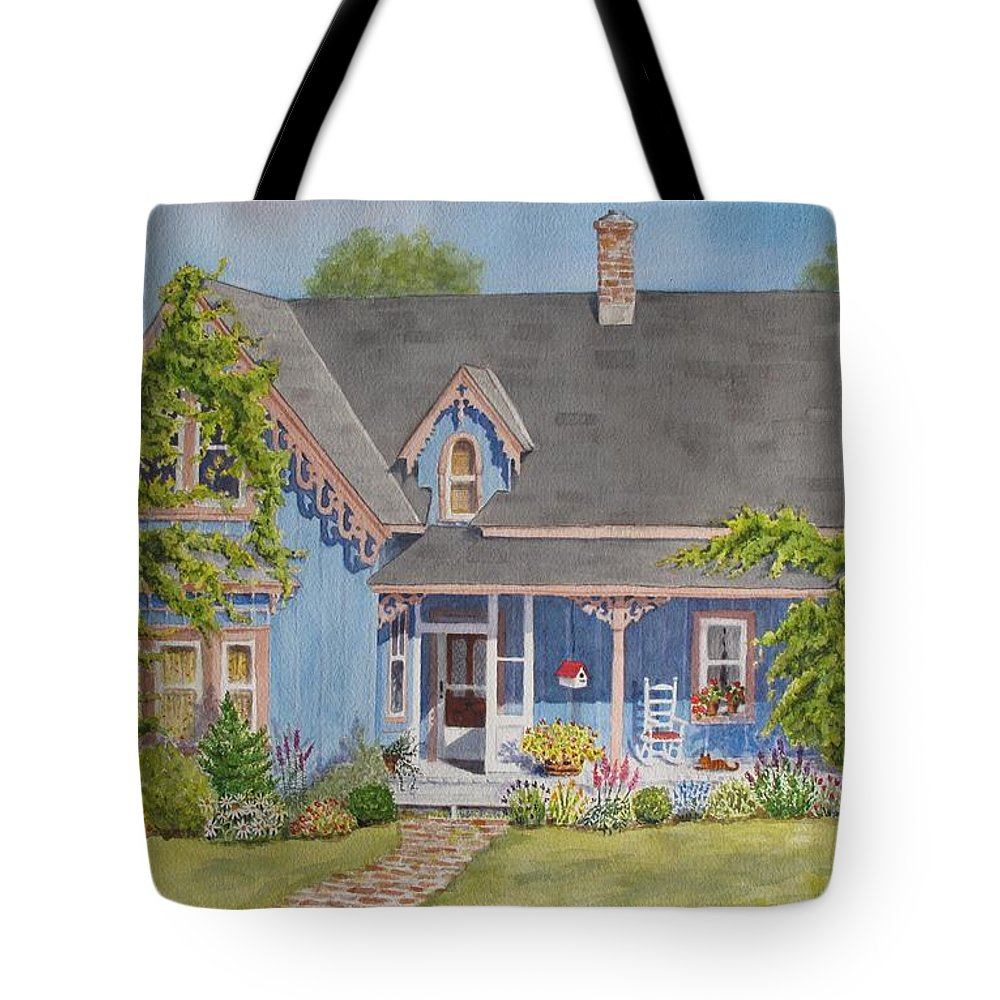 Canada Tote Bag featuring the painting My Blue Heaven by Mary Ellen Mueller Legault