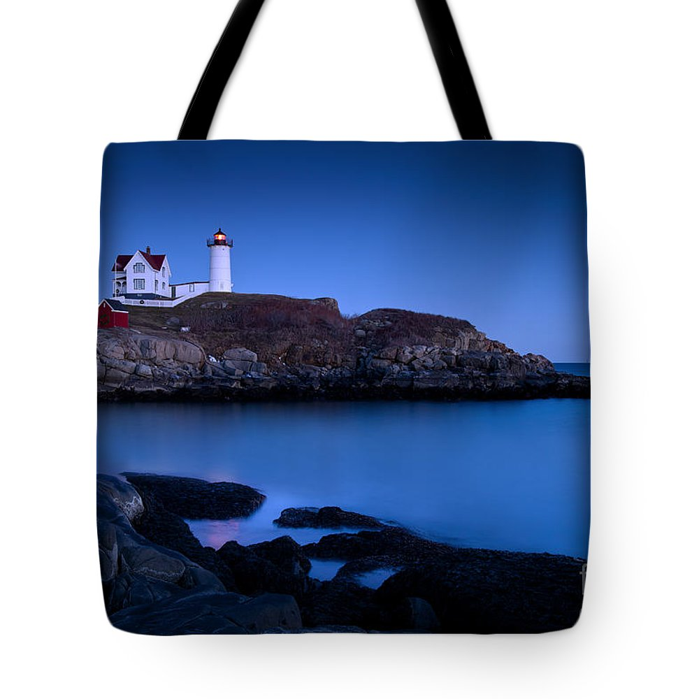 Nubble Lighthouse Tote Bags | Fine Art America