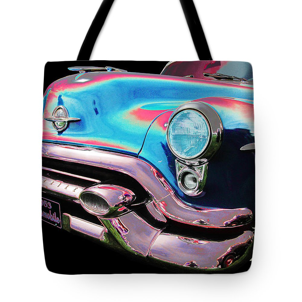 1953 Oldsmobile Tote Bag featuring the photograph Oldsmobile by Allan Price