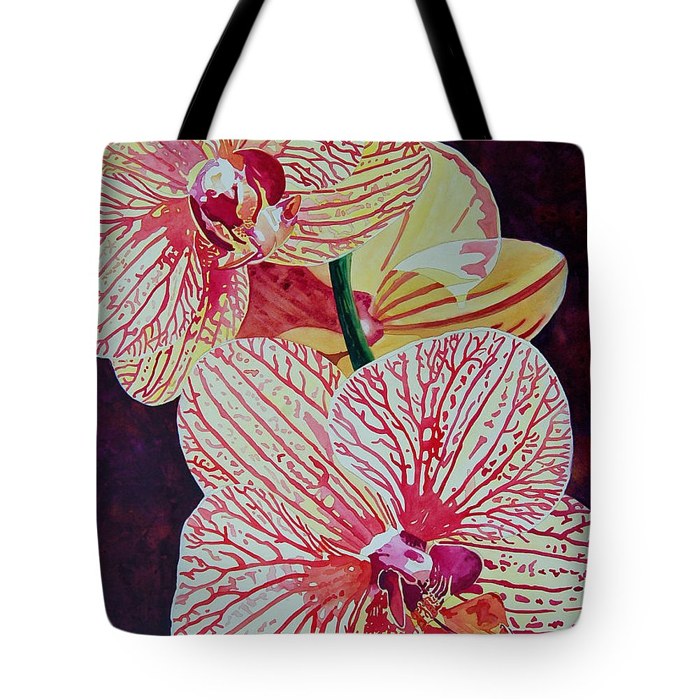 Orchids Tote Bag featuring the painting Orchids by Terry Holliday