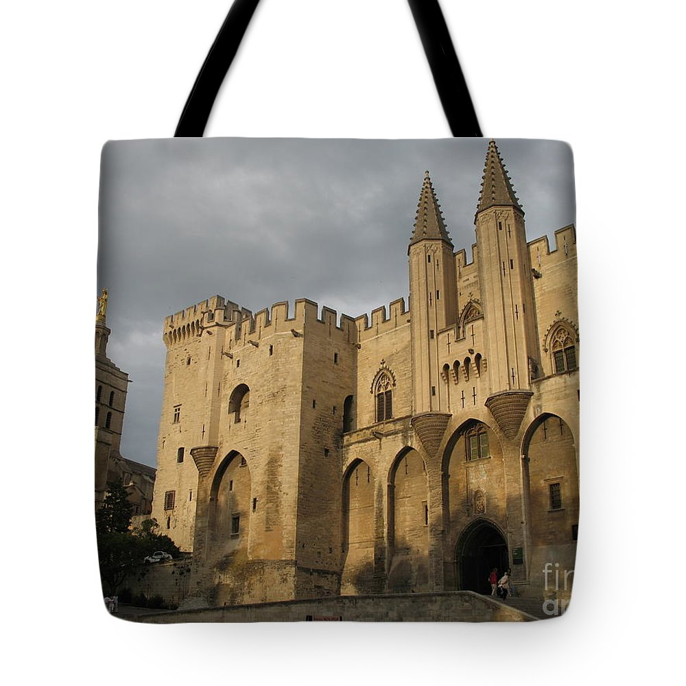 Palace Tote Bag featuring the photograph Palace Of The Pope - Avignon by Christiane Schulze Art And Photography