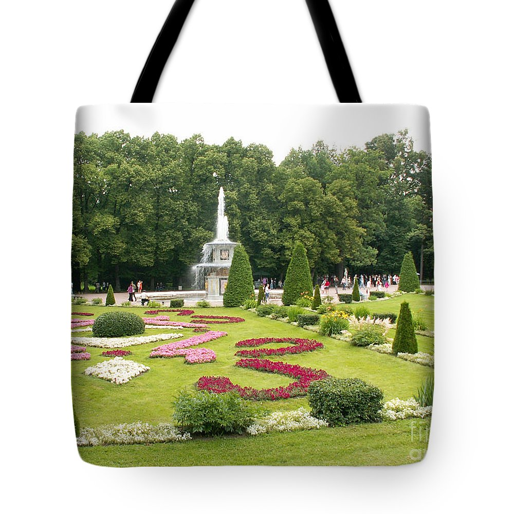 Petergof Tote Bag featuring the photograph Park In Petergof by Evgeny Pisarev
