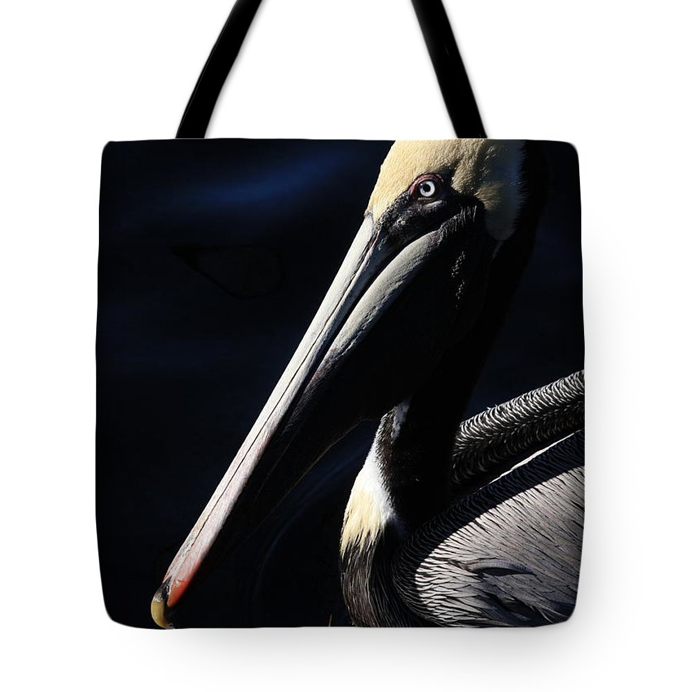 Pelican Tote Bag featuring the photograph Pelican Profile by Carol Groenen