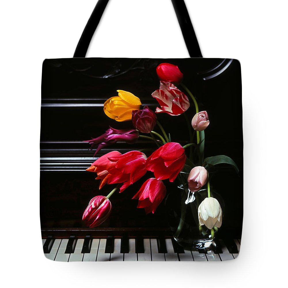 Piano Tote Bag featuring the photograph Piano by Photophilous