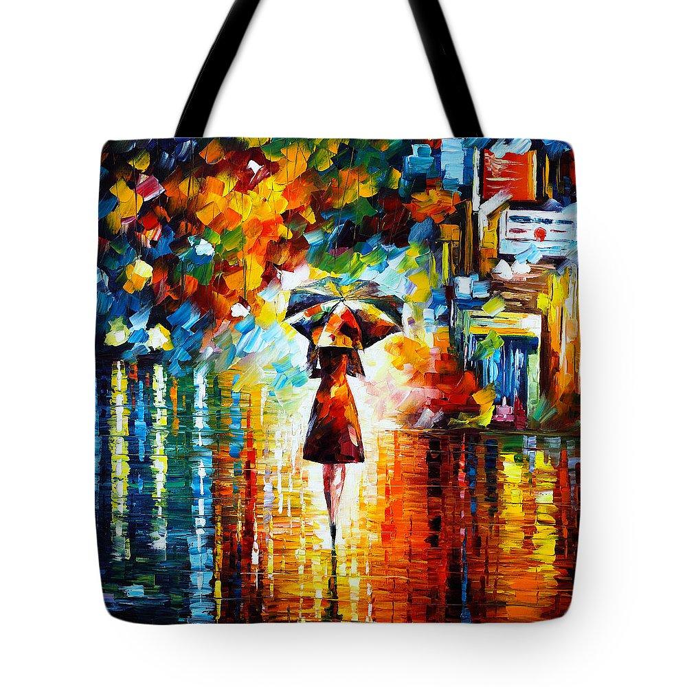 Rain Tote Bag featuring the painting Rain Princess by Leonid Afremov