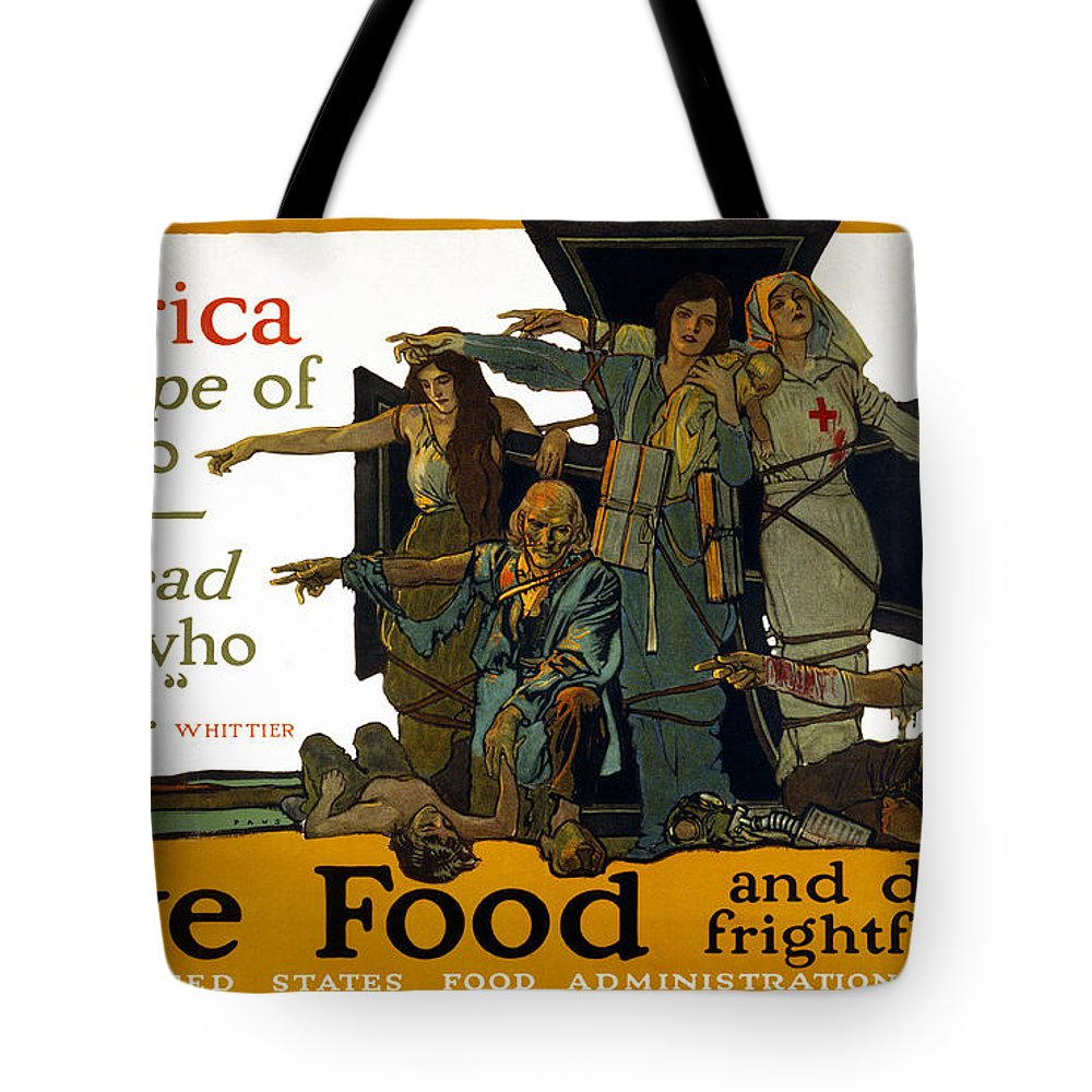 1917 Tote Bag featuring the photograph Red Cross Poster, 1917 by Granger