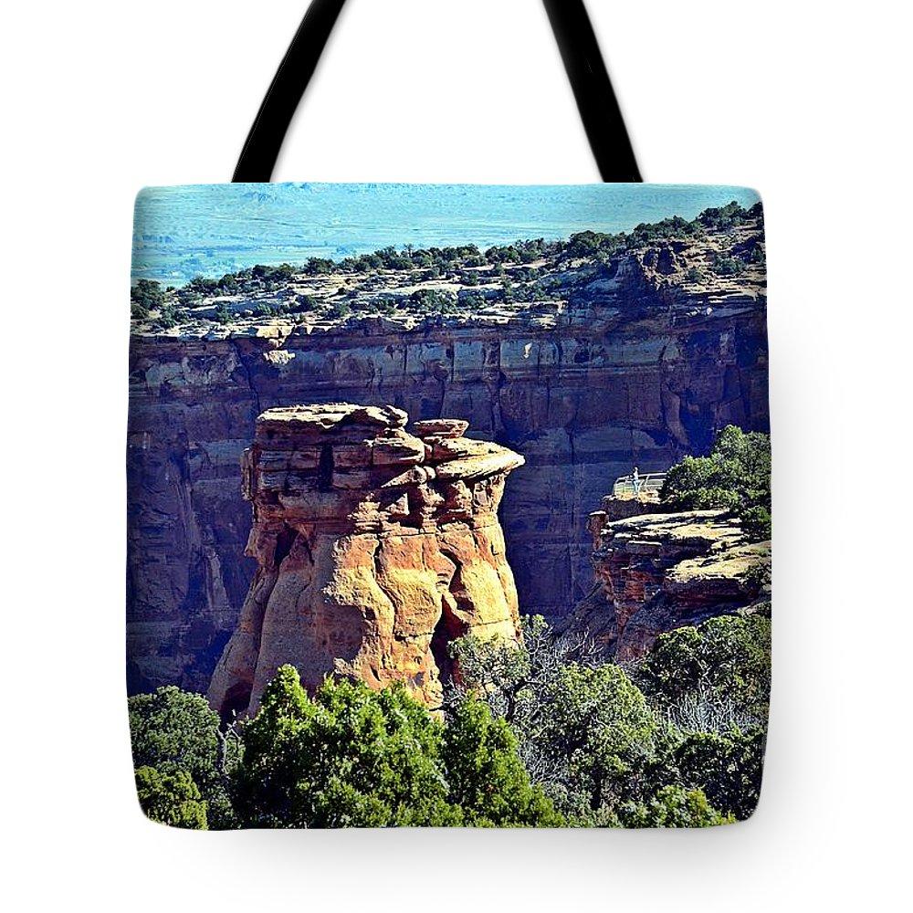 Rim Rock Tote Bag featuring the photograph Rim Rock Colorado by Randy J Heath