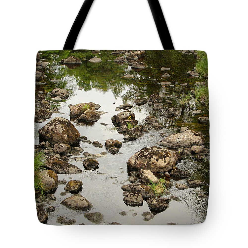 Riverbed Tote Bag featuring the photograph Riverbed by Kerstin Ivarsson