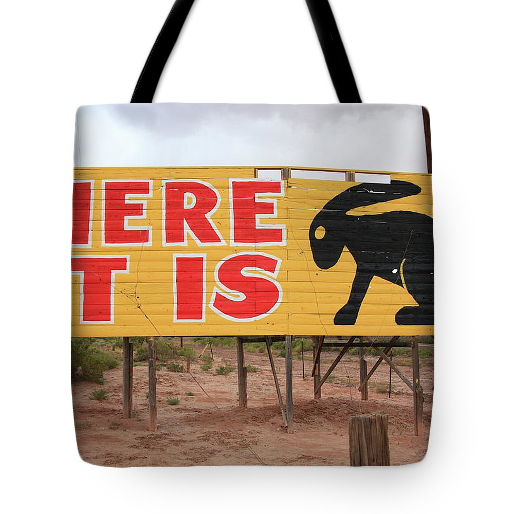 66 Tote Bag featuring the photograph Route 66 - Jack Rabbit Trading Post by Frank Romeo