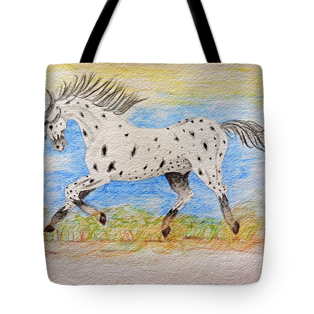 Nature Tote Bag featuring the painting Running Free by Debbie Portwood