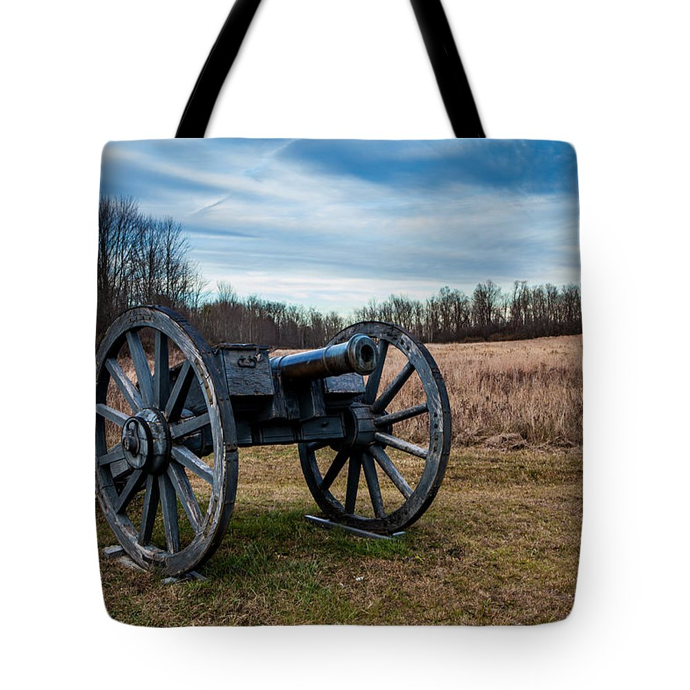 Landscape Tote Bag featuring the photograph Saratoga Battlefield by Jiayin Ma