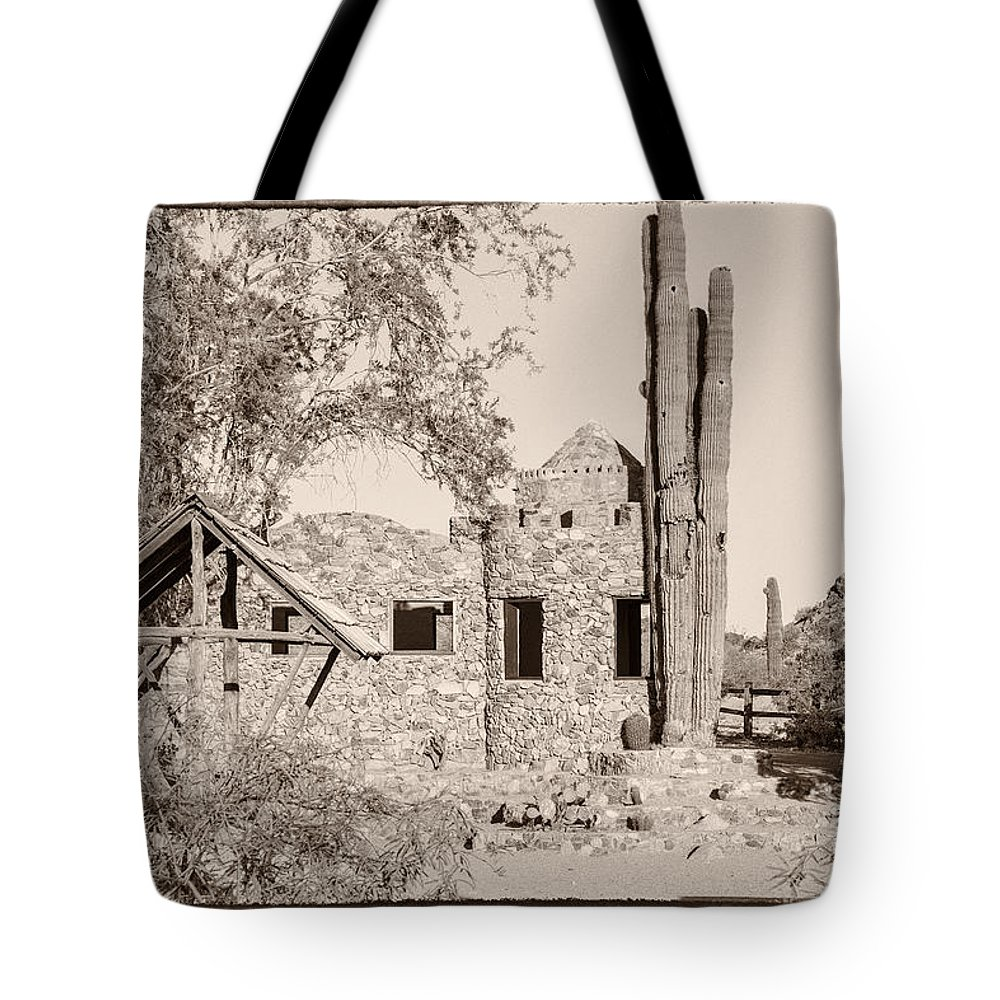 Abandoned Tote Bag featuring the photograph Scorpion Gulch Phoenix Arizona by Ken Brown