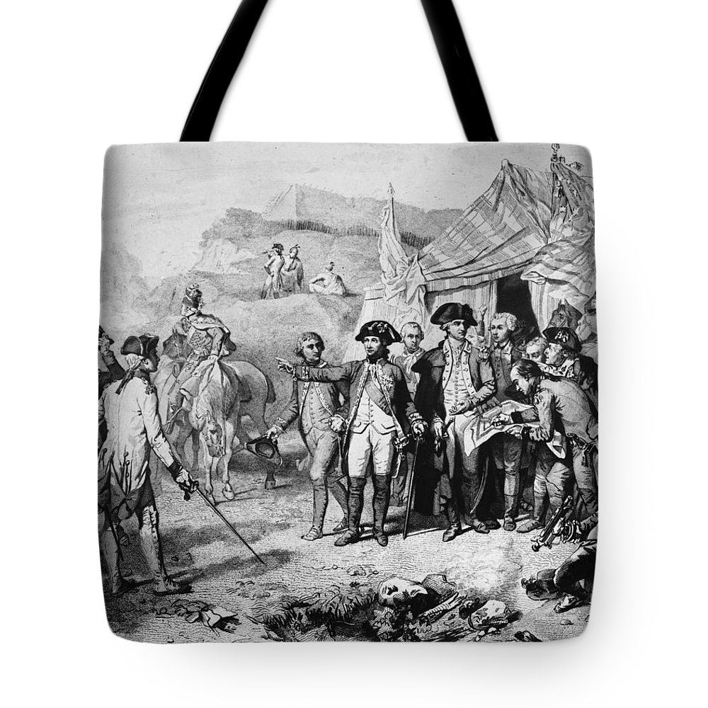 1781 Tote Bag featuring the photograph Siege Of Yorktown, 1781 by Granger