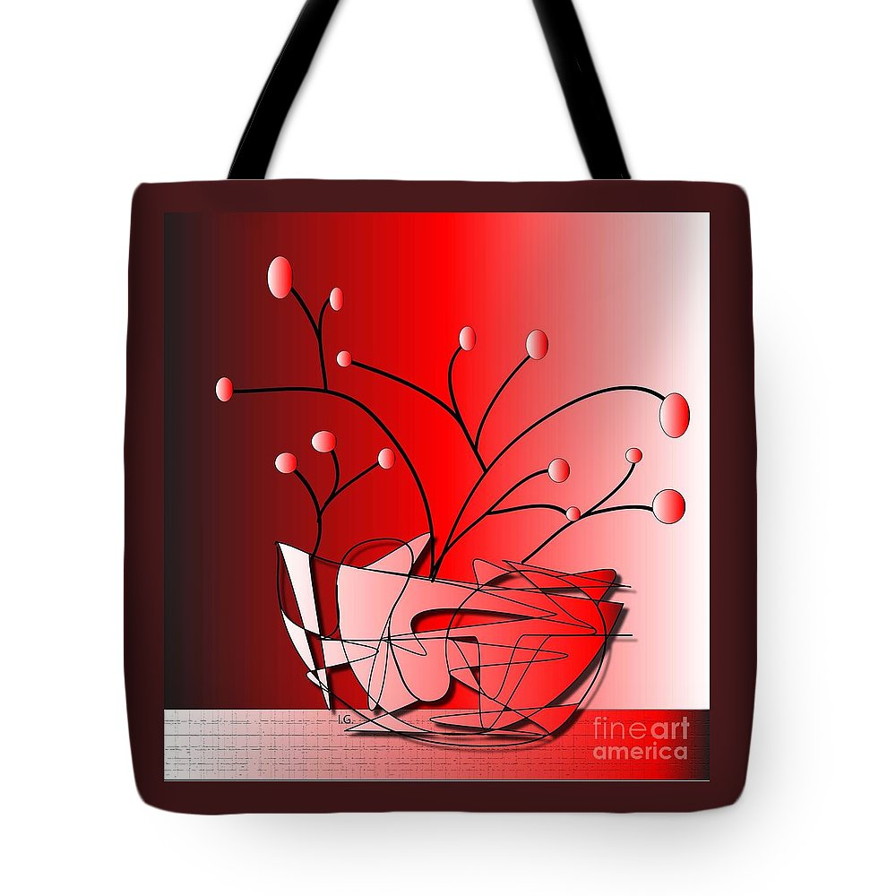 Illustration Tote Bag featuring the drawing Simplicity by Iris Gelbart