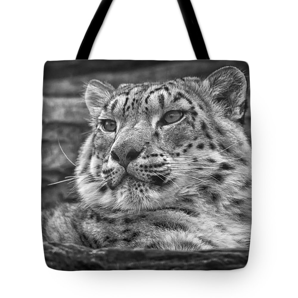 Marwell Tote Bag featuring the photograph Snow Leopard by Chris Boulton