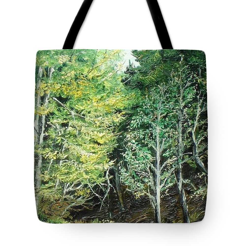 Spring Tote Bag featuring the painting Spring by Sorin Apostolescu