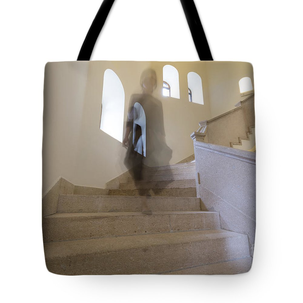 Stairs Tote Bag featuring the photograph Stairs by Mats Silvan