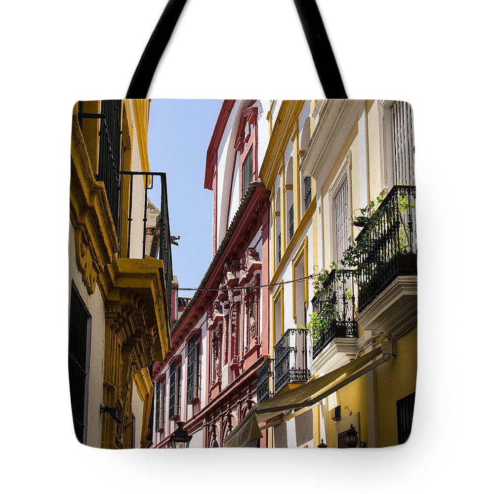Seville Tote Bag featuring the photograph Streets Of Seville - Magic Colours by Andrea Mazzocchetti
