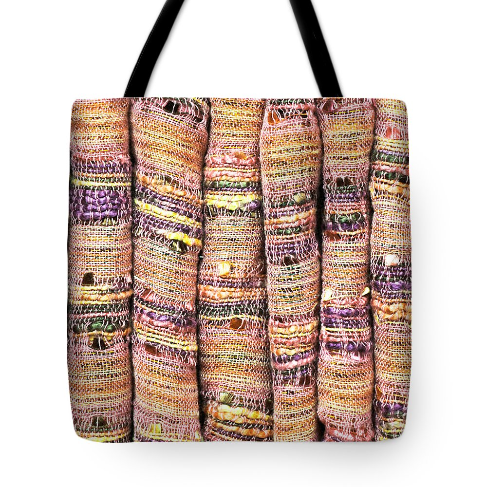 Backdrop Tote Bag featuring the photograph Textile Background by Tom Gowanlock
