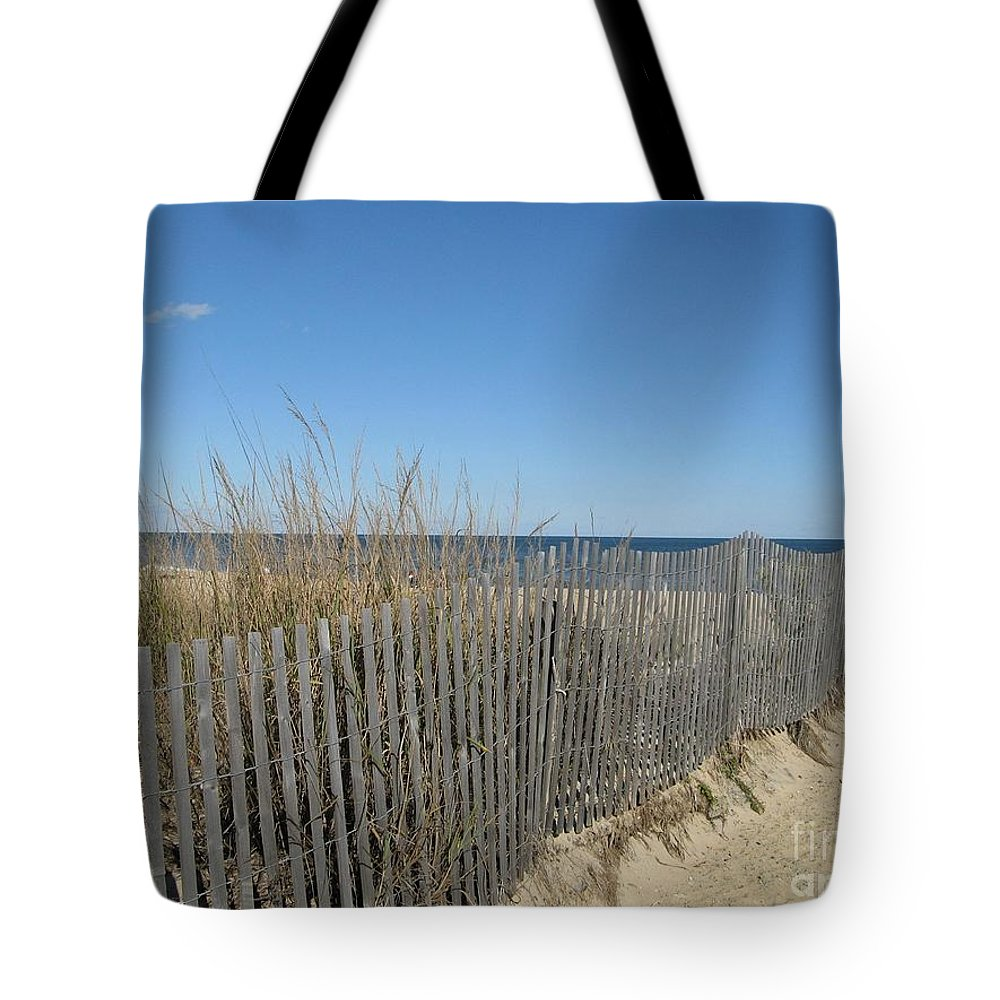 Delaware Tote Bag featuring the photograph The Beach by Arlene Carmel