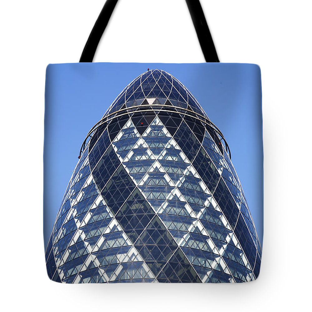 London Tote Bag featuring the photograph The Gherkin Building In London England by Robert Preston