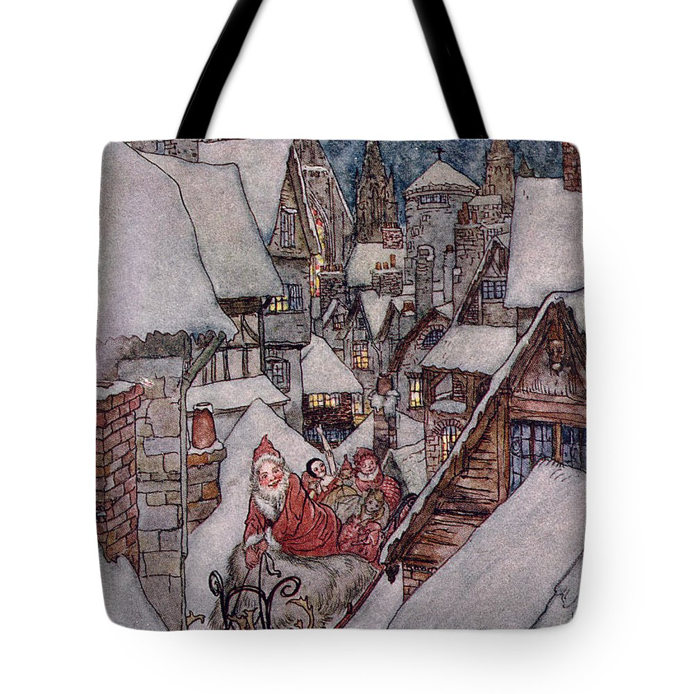 The Night Before Christmas Tote Bag For Sale By Arthur Rackham