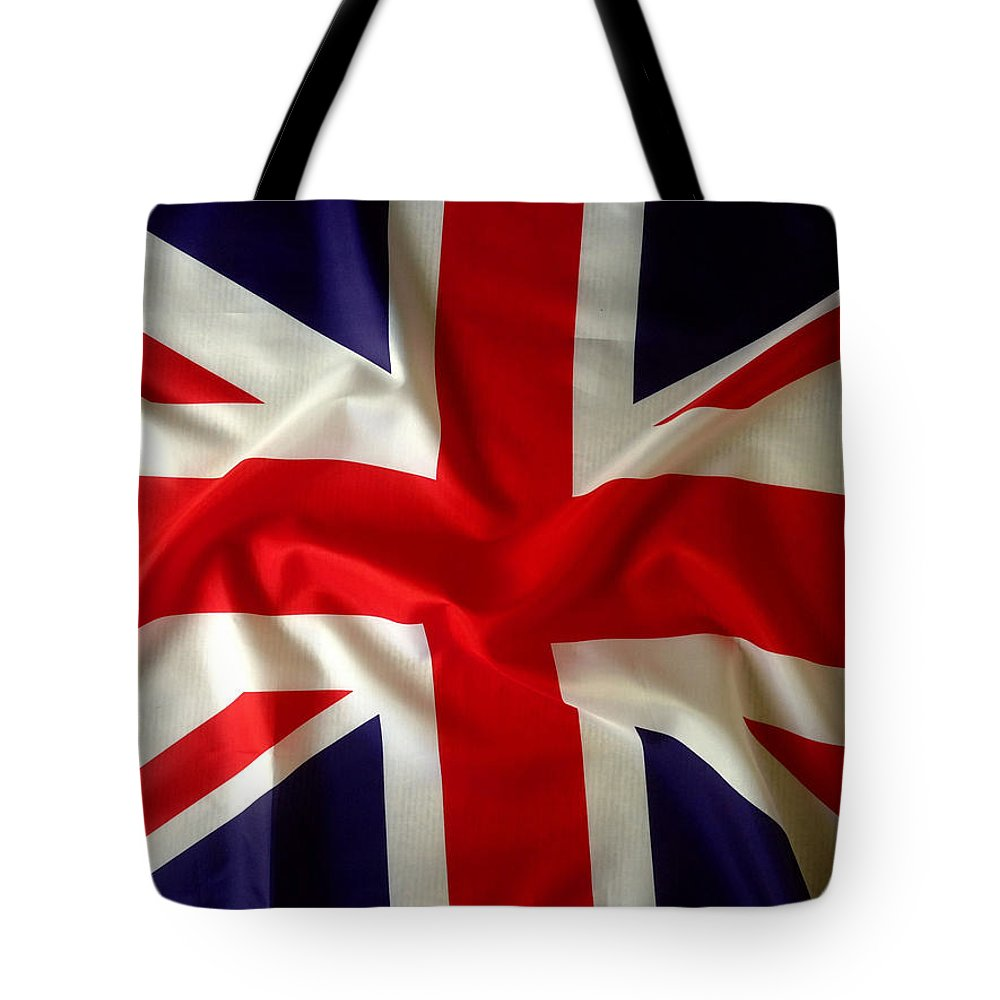 Background Tote Bag featuring the photograph Union Jack 3 by Les Cunliffe