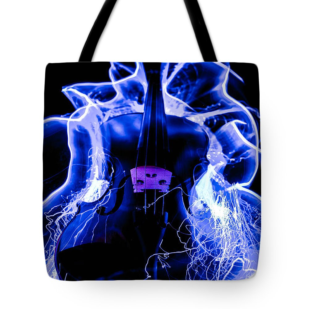 Violin Tote Bag featuring the photograph Violin by Gerald Kloss
