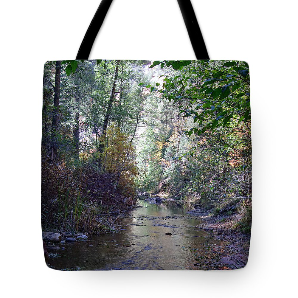 West_fork Tote Bag featuring the photograph West Fork Oak Creek by Tam Ryan