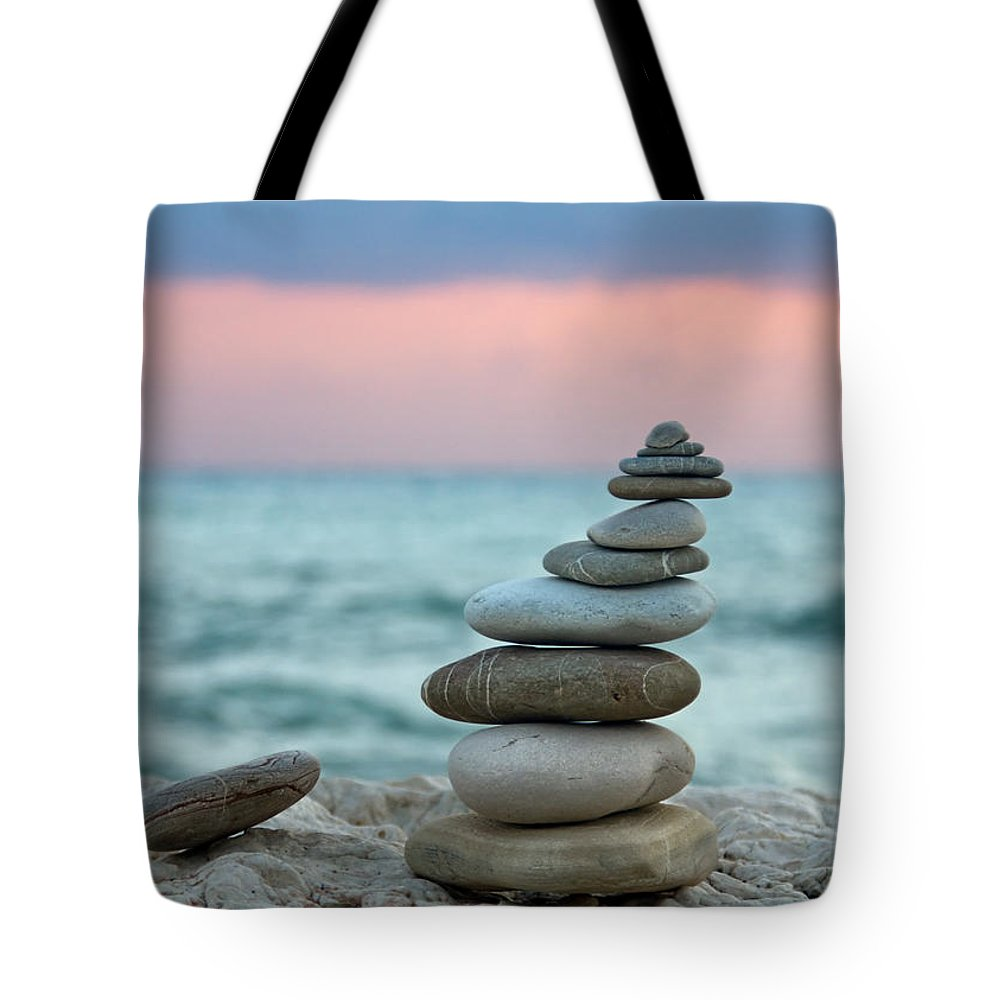 Abstract Tote Bag featuring the photograph Zen by Stelios Kleanthous