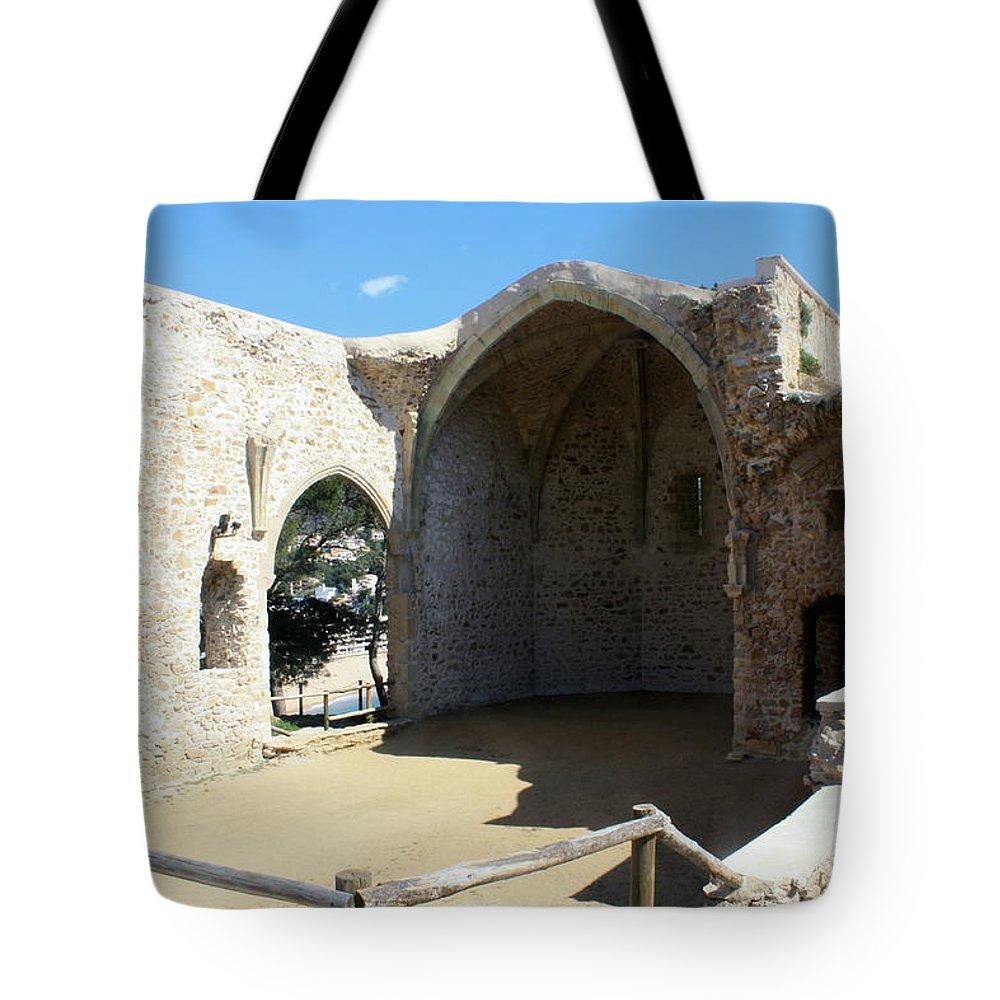 Tossa De Mar Tote Bag featuring the photograph Tossa De Mar Costa Brava by Kevin F Cook