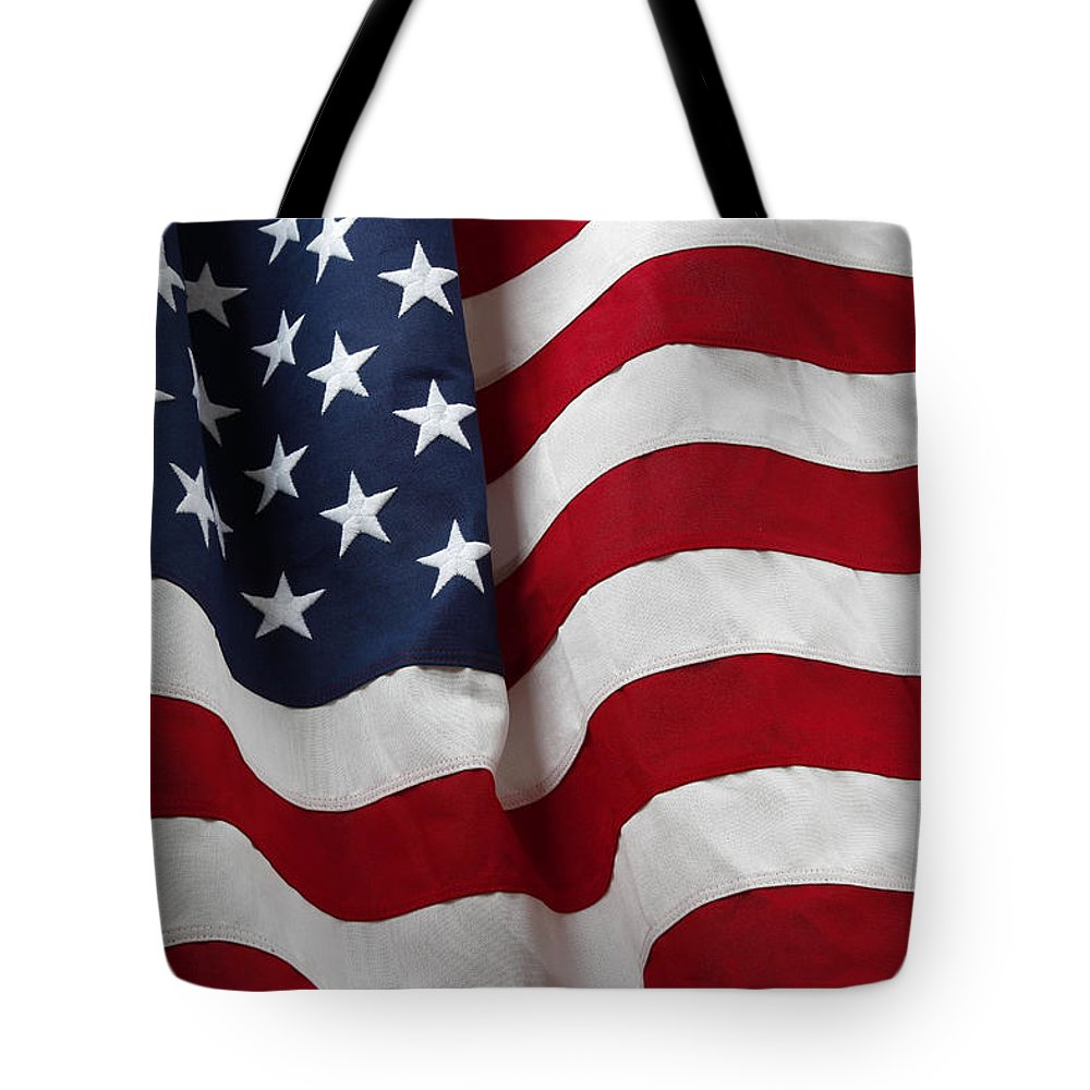 American Flag Tote Bag featuring the photograph Usa Flag by Les Cunliffe
