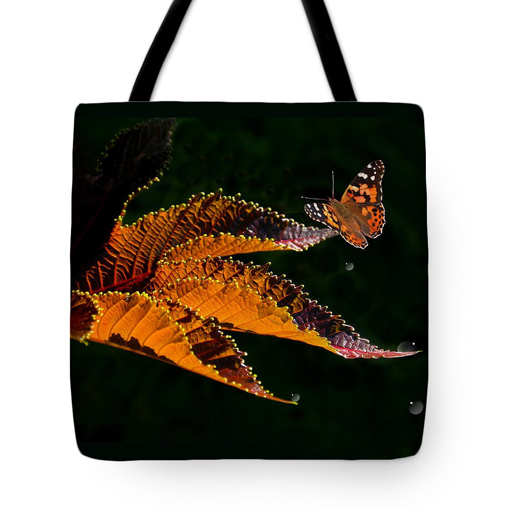 Leaves Tote Bag featuring the photograph 3245 by Peter Holme III