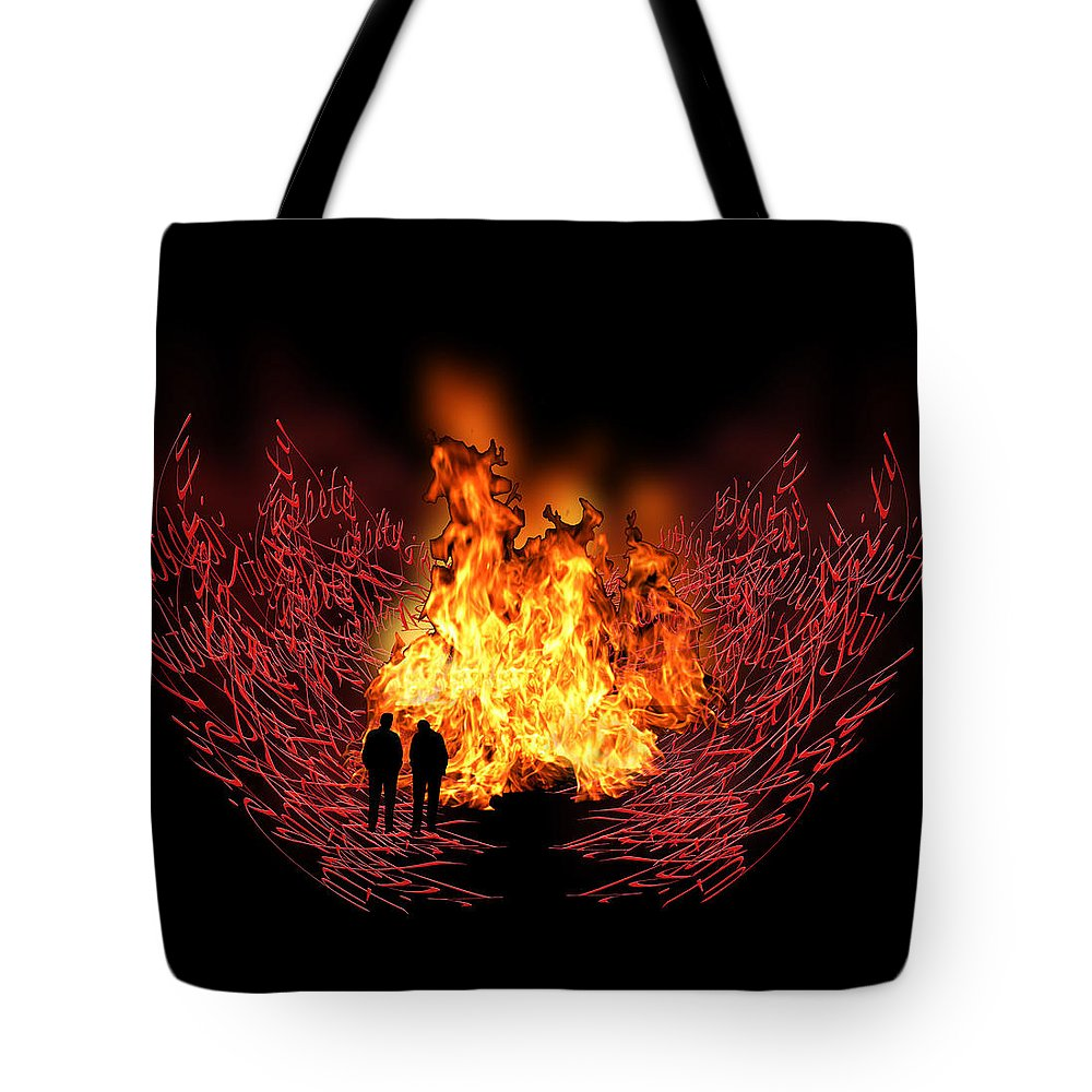 Fire Tote Bag featuring the photograph 3268 by Peter Holme III